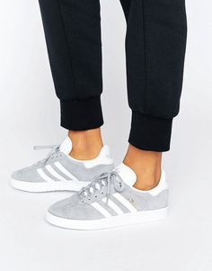 Order adidas Originals Grey Gazelle Sneakers With Snake Effect Trim online today at ASOS for fast delivery, multiple payment options and hassle-free returns (Ts&Cs apply). Get the latest trends with ASOS. Moda Sneakers, Sneakers Mode, Sneakers Adidas, Adidas Outfit, Sneakers Fashion, Fashion Shoes, Gray Sneakers Outfit, Women's Shoes, Tennis Shoes Outfit