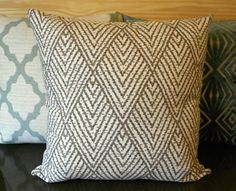 Tan chevron diamond decorative throw pillow by pillowflightpdx, $28.00