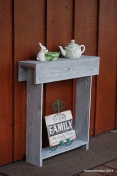 Skinny Wood Console Table 27x6x30 Farmhouse Decor Entryway Table