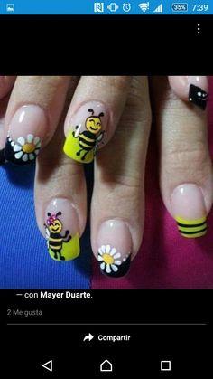 Abeja  Manicure, Nails, Painting, Beauty, Pedicures, Bees, Fingernail Designs, Pure Nail Bar, Finger Nails