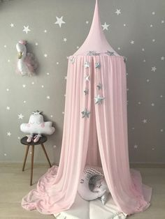 Pink Canopy Chiffion baldachin Ceiling Hanging Tent Canopy for Nursery Kids Reading Nook Tent Bed Canopy Crib canopyPrincess Canopy Kids Bed Canopy, Bed Tent, Canopy Tent, Hanging Tent, Ceiling Hanging, Baby Playroom, Baby Room Decor, Reading Nook Tent, Kids Reading