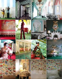 The very floral interior of The Greenbrier.  http://www.greenbrier.com