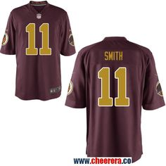 84746dcab Men's Washington Redskins #11 Alex Smith Red With Gold Alternate Stitched NFL  Nike Elite Jersey