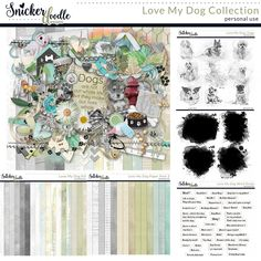 Love my Dog was designed to help you create scrapbook pages about your furry friends. What do you love about them? What do they do that makes you laugh? How would we ever get along without them?