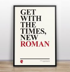 Typography Pun Poster #3 by  Gary Nicholson