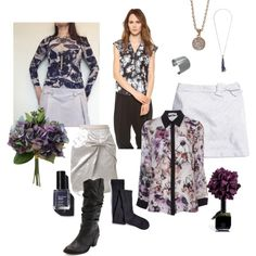"""""""Painted Flowers"""" by @YesAndNazzy on Polyvore #ootd #whatIwore #attheoffice http://yesandnazzy.blogspot.com/2014/02/painted-flowers.html"""