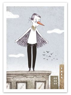 Bird Man print