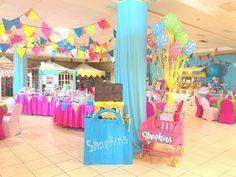 Pera Chapita --- Shopkins birthday party theme, shopkins piñata, shopkins grocery cart. #shopkins