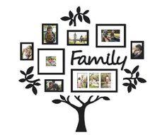 Family Tree Wall Decor, Family Tree Picture Frames, Family Tree With Pictures, Family Tree Photo, Collage Picture Frames, Tree Wall Art, Picture Wall, Frames On Wall, Picture Photo