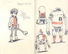 Sketchbook Page 03 by Jake Parker, via Flickr