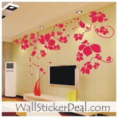Beautiful Flower Wall Sticker