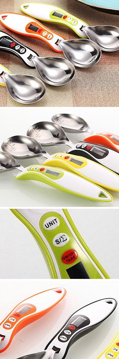 Digital kitchen scale measuring spoon! #product_design