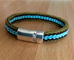 Kumihimo bracelet by Sue Stevenson. Beading, Wax, Braids, Slot, Cord, Bracelet, Jewelry, Projects, Bangles