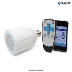 Bluetooth LED Lightbulb Speaker for $25.00 at nomorerack.com
