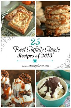 25 Best Sinfully Simple Recipes of 2013 25 Best Sinfully Simple Recipes of 2014 including Caramel Macchiato Cookies and Samoa's Brownie Parfaits! Easy Desserts, Delicious Desserts, Dessert Recipes, Yummy Food, Brownie Recipes, Yummy Treats, Sweet Treats, Simple Recipes, How Sweet Eats