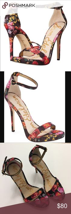Sam Edelman Eleanor floral heels 7.5 Beautiful floral heels! Worn once inside. New condition, no box. Heel size is about 4.5 and platform about .5 inches. Sam Edelman Shoes Heels