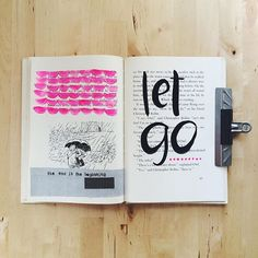 @anikalacerte | Let GO | Season of Words | Get Messy Art Journal