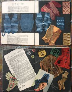 1940s Knitting Pattern Book French Vintage