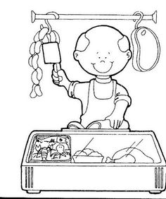 Crafts,Actvities and Worksheets for Preschool,Toddler and Kindergarten.Lots of worksheets and coloring pages. Cartoon Coloring Pages, Coloring For Kids, Coloring Pages For Kids, Adult Coloring, Coloring Books, Community Workers, Community Helpers, English Activities, Book Activities