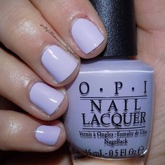 opi This is I'm Gown For Anything by OPI. A light lilac cream.