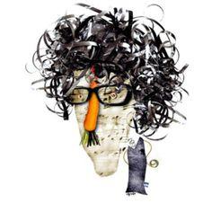 Observá los elementos que componen este retrato de Charly García
