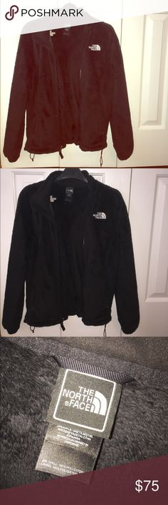 Black fur North Face Jacket Size small (S) women's black fur north face jacket. 100% polyester. Two outer pockets that zip shut. Work a few times, great condition! The North Face Jackets & Coats