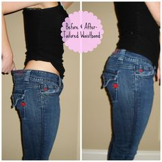 Alter Jeans by adding darts. Tutorial. SO easy, just have to be able to sew a straight line