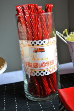 flaming firehoses - twizzlers
