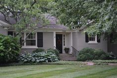 painted brick exterior ranch - Google Search