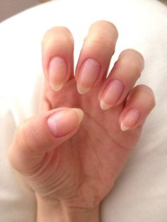 Natural Stiletto Nail Shaping