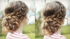 DIY Curly Updo | Messy Updo Prom | Braidsandstyles12 Love the way she pins up the curls in the back.