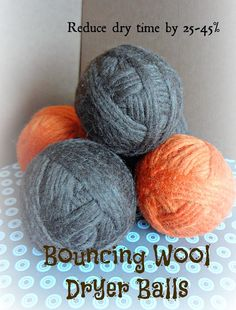 make your own wool dryer balls - reduces drying time and static --no more dryer sheets!