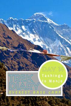 Destinations // Everest Base Camp Trek Day 14: Tashinga to Monjo. The Everest Base Camp Trek combined with the Three Pass Trek is an adventure of a lifetime.