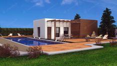 Casas de madera modernas con tantas posibilidades como puedas imaginar. Mansions, House Styles, Outdoor Decor, Home Decor, Interior Walls, Timber House, Prefab Homes, Style At Home, Modern Houses