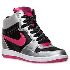 Women's Nike Force Sky High Casual Shoes  FinishLine.com   Black/Vivid Pink