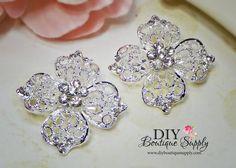 2 pcs Small Rhinestone Brooch Pins for Brooch Bouquet Crystal
