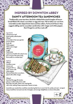 Dainty Afternoon Tea Sandwiches....Downton Abbey Inspired Recipe