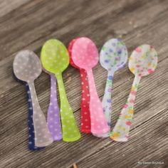 My sweet boutique Image of Mini cuillers fleurs, pois ou oiseaux - à l'unité