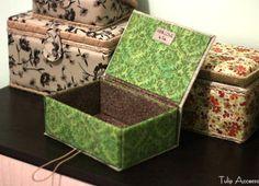 Projet de bricolage: Didacticiel en boîte à bijoux en carton