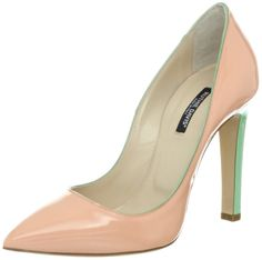 Women's Captiva Pump – Ruthie Davis Leather with Leather sole contrast heel and piping – made in italy.BUY NOW #shoes