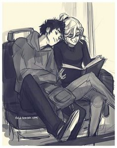 Another of my Favorite Percabeth pictures ever. I love this B&W pic and the colored version.