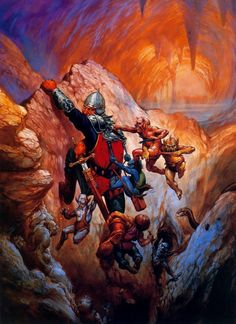 jeff easley - dungeon horde, advanced dungeons and dragons,  dungeoneer's survival guide