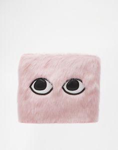 Image 1 of Skinnydip Bonnie Faux Fur Clutch Bag