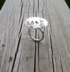 Sterling Silver Statement Ring  Silver Ring  by RiscottsJewellers