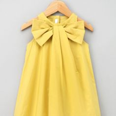Yellow bow dress + Matching mother-daughter outfits. YES!!! Have to make!!
