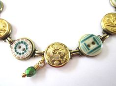 WEST POINT, ARMY antique button bracelet. 1800s buttons. Show support for your soldier!