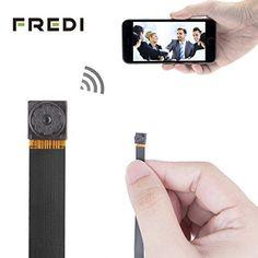 FREDI mini -caméra espion à l'interieur et à l'exterieur caméra HD portable de minî-caméra cachée 720P un réseau wifi espion de la caméra…