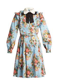 Josephine-print cotton-blend dress | Gucci | MATCHESFASHION.COM