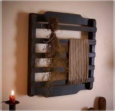 Olde Farmhouse Colonial Towel or Dry Rack / Washroom / by Sawdusty, $30.00