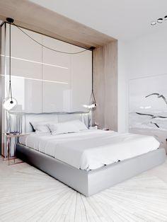 Petite, Precious & Pastel Home Interior (Interior Design Ideas) Small Room Bedroom, Modern Bedroom, Bedroom Decor, Gray Bedroom, Bedroom Ideas, Decor Room, Master Bedroom, Modern Interior Design, Interior Design Inspiration